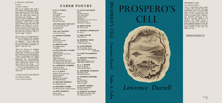 Prospero's Cell. Lawrence Durrell.