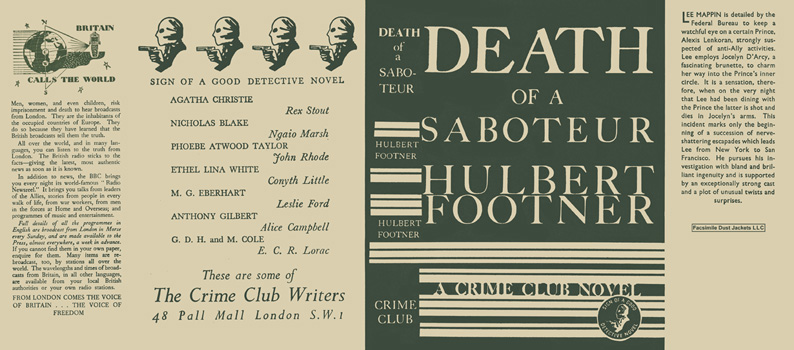 Death of a Saboteur. Hulbert Footner
