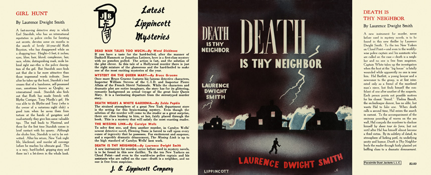 Death Is Thy Neighbor. Laurence Dwight Smith.