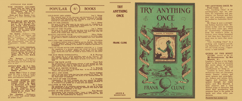 Try Anything Once. Frank Clune.