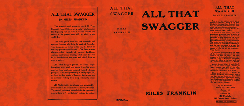 All That Swagger. Miles Franklin