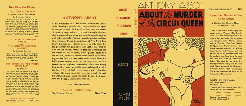 About the Murder of the Circus Queen. Anthony Abbot