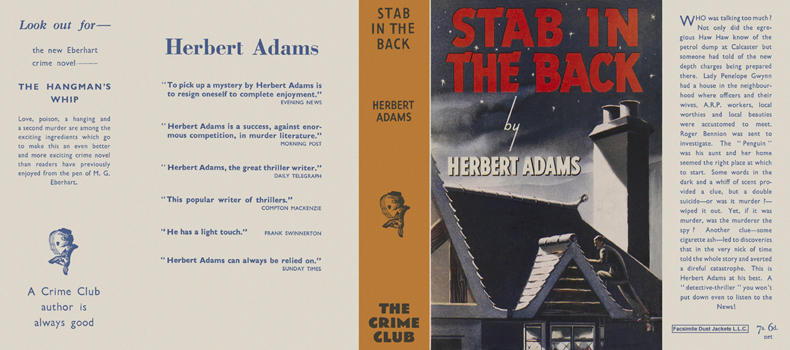 Stab in the Back. Herbert Adams