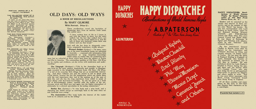 Happy Dispatches. A. B. Paterson