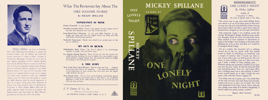 One Lonely Night. Mickey Spillane.