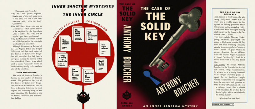 Case of the Solid Key, The. Anthony Boucher.