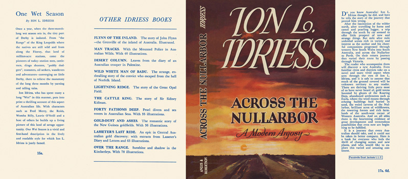 Across the Nullarbor. Ion L. Idriess