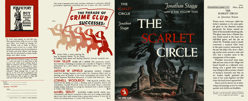 Scarlet Circle, The. Jonathan Stagge.