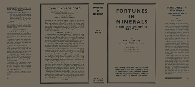 Fortunes in Minerals. Ion L. Idriess