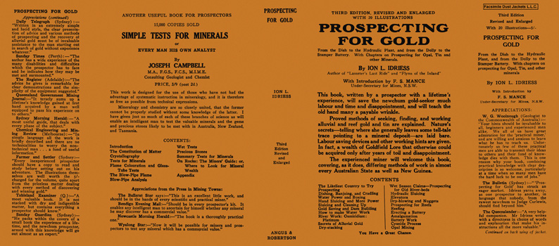 Prospecting for Gold. Ion L. Idriess.