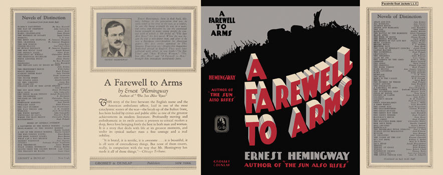 Farewell to Arms, A. Ernest Hemingway.