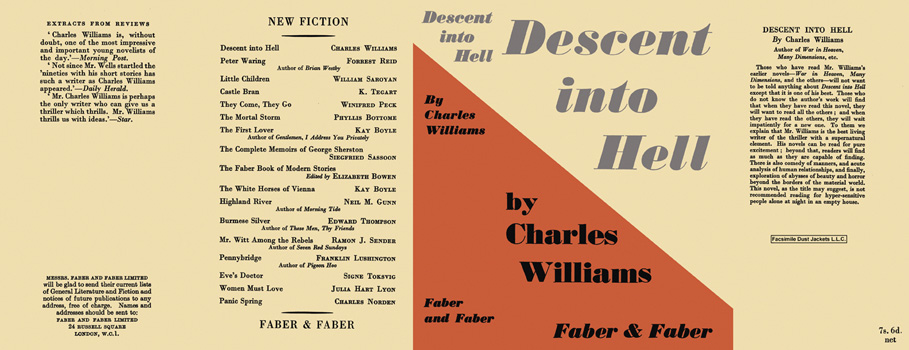 Descent into Hell. Charles Williams.