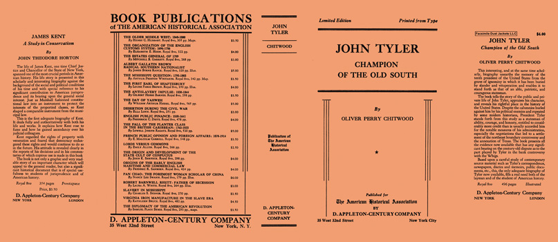 John Tyler, Champion of the Old South. Oliver Perry Chitwood.