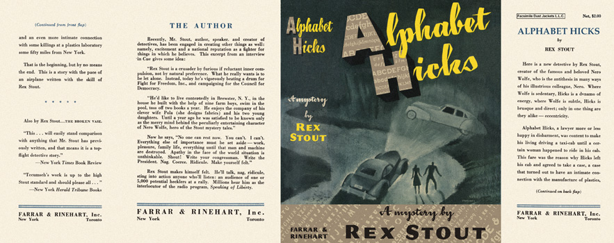 Alphabet Hicks. Rex Stout