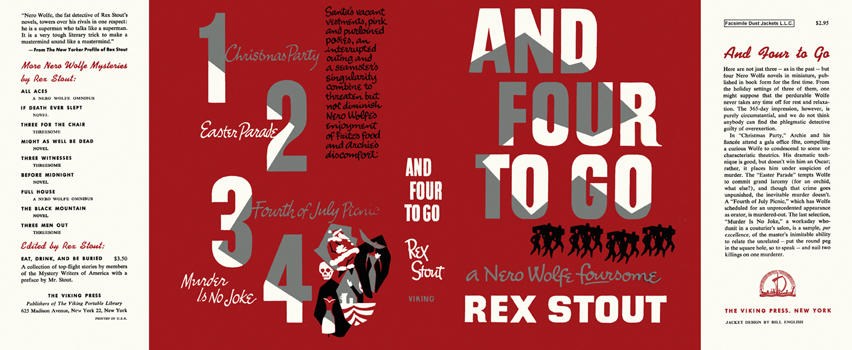 And Four to Go. Rex Stout