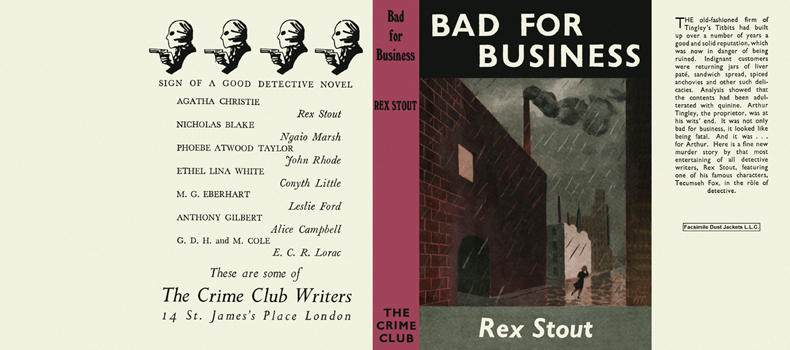 Bad for Business. Rex Stout.