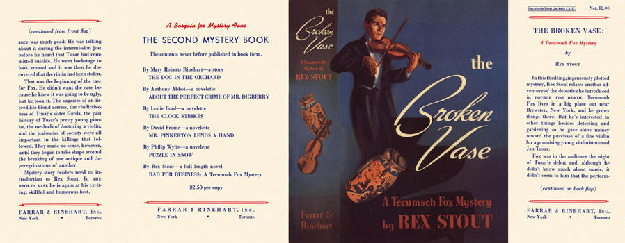 Broken Vase, The. Rex Stout.