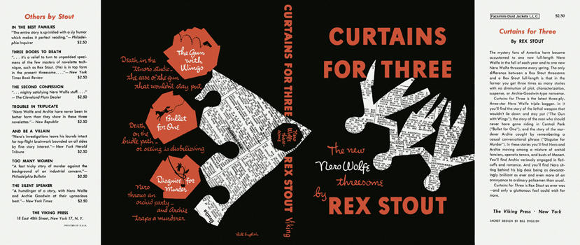 Curtains for Three. Rex Stout.