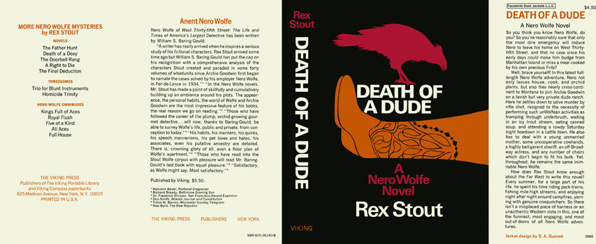 Death of a Dude. Rex Stout