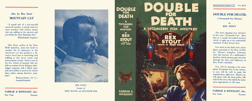 Double for Death. Rex Stout.