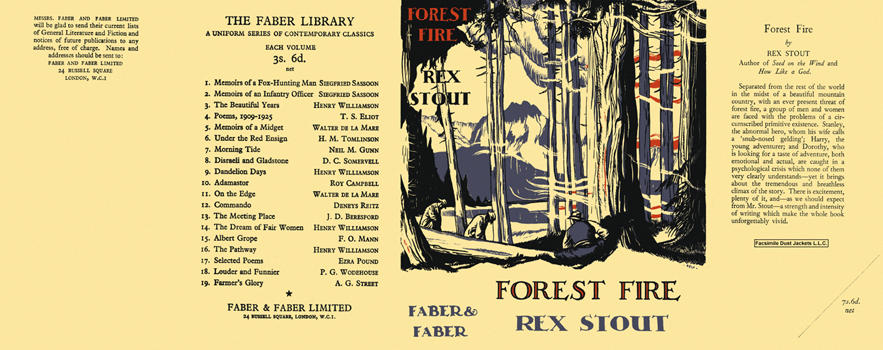 Forest Fire. Rex Stout