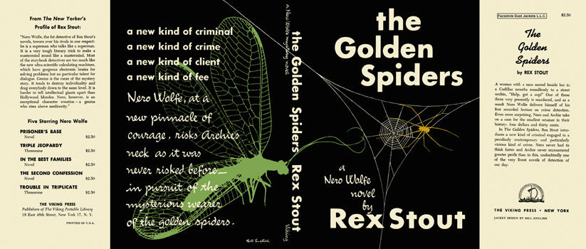 Golden Spiders, The. Rex Stout.