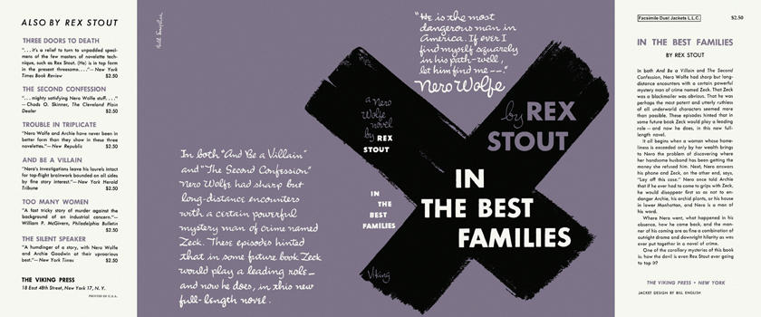 In the Best Families. Rex Stout