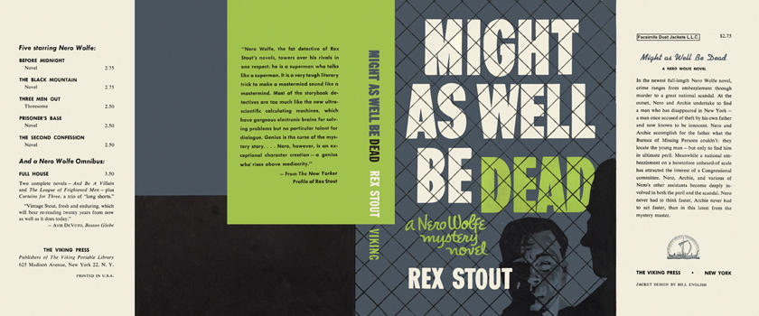 Might As Well Be Dead. Rex Stout