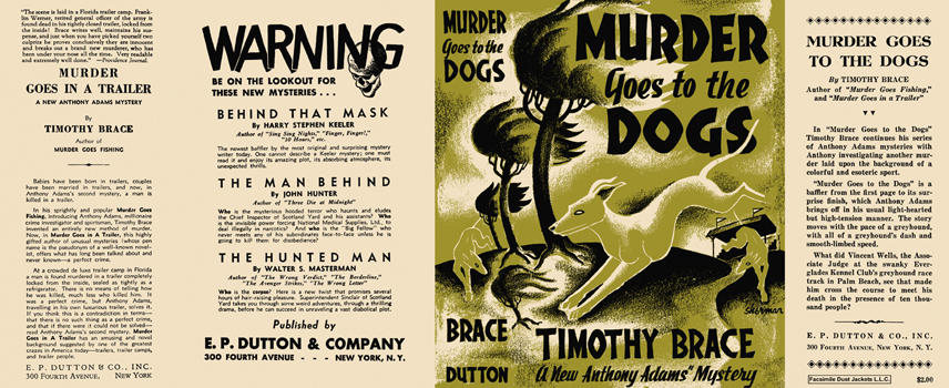 Murder Goes to the Dogs. Timothy Brace.