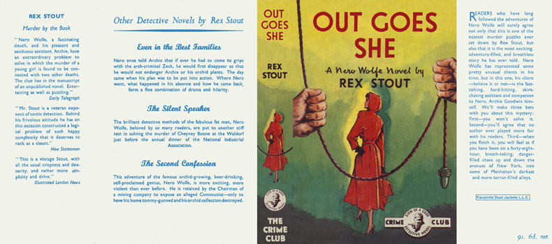 Out Goes She. Rex Stout