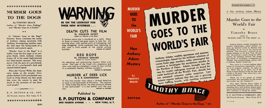 Murder Goes to the World's Fair. Timothy Brace.