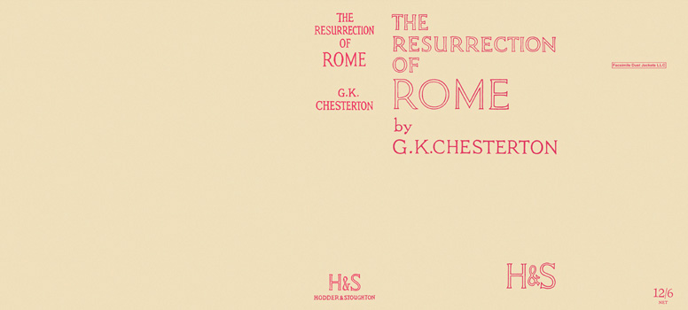 Resurrection of Rome. G. K. Chesterton