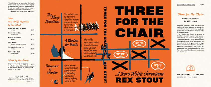 Three for the Chair. Rex Stout.