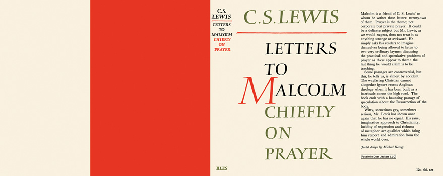 Letters to Malcolm, Chiefly on Prayer. C. S. Lewis.
