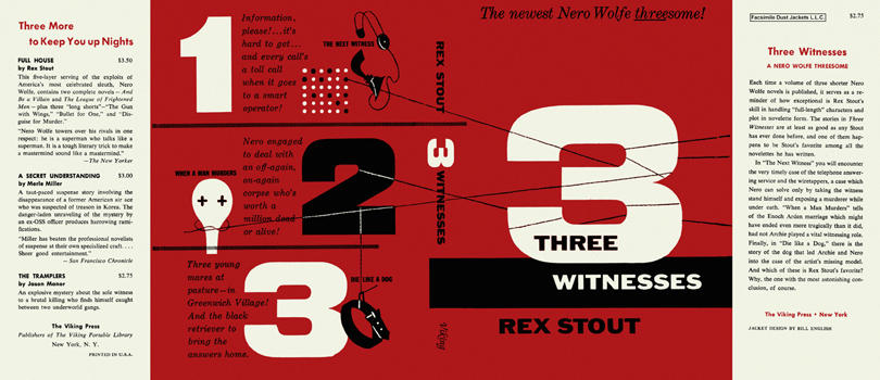 Three Witnesses. Rex Stout.