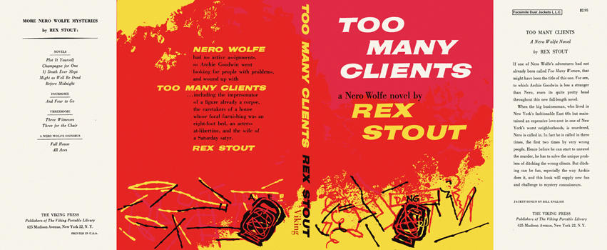 Too Many Clients. Rex Stout