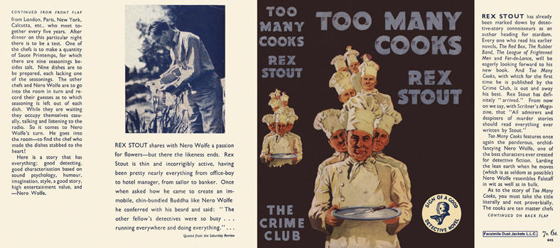 Too Many Cooks. Rex Stout
