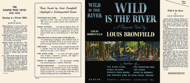 Wild Is the River. Louis Bromfield