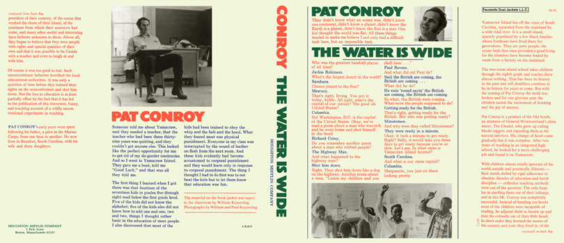 Water Is Wide, The. Pat Conroy.