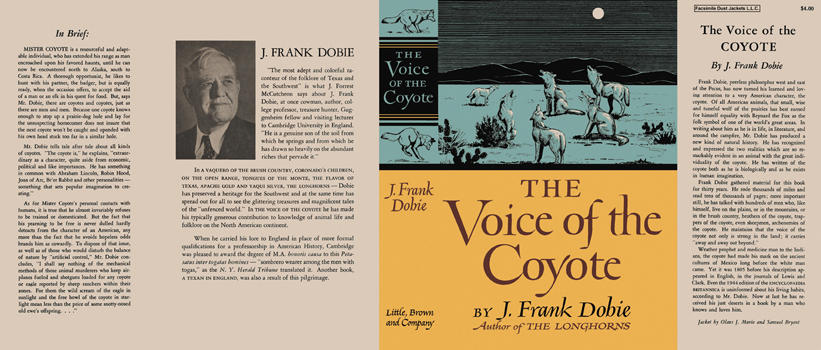 Voice of the Coyote, The. J. Frank Dobie