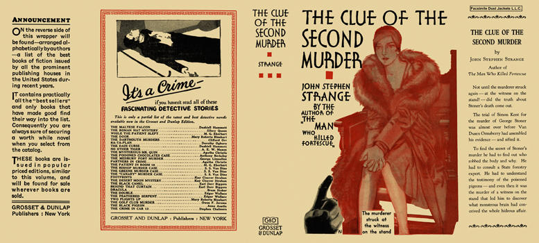 Clue of the Second Murder, The. John Stephen Strange