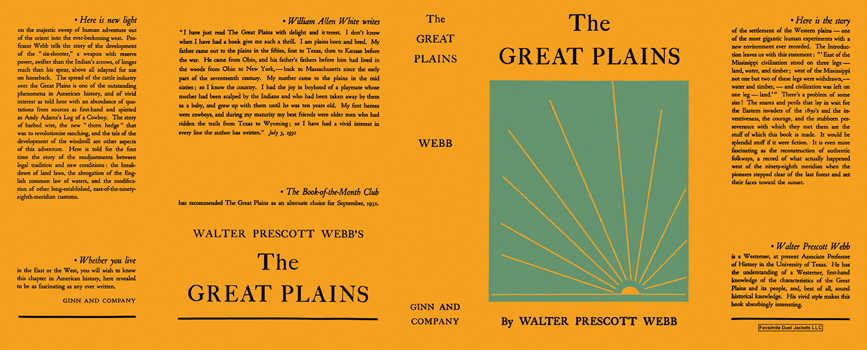 Great Plains, The. Walter Prescott Webb