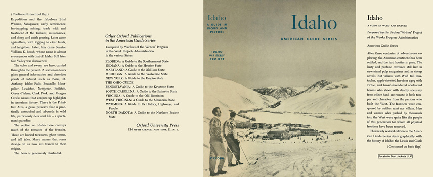 Idaho, A Guide in Word and Picture. American Guide Series, WPA