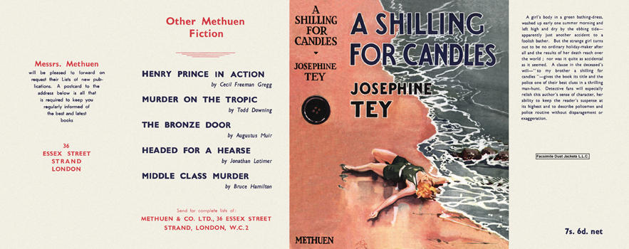 Shilling for Candles, A. Josephine Tey.