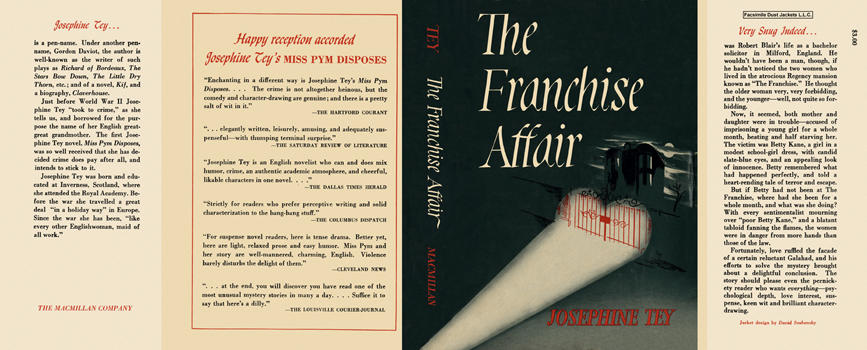 Franchise Affair, The. Josephine Tey.