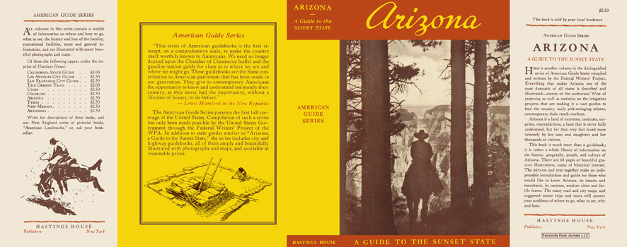 Arizona, A Guide to the Sunset State. American Guide Series, WPA