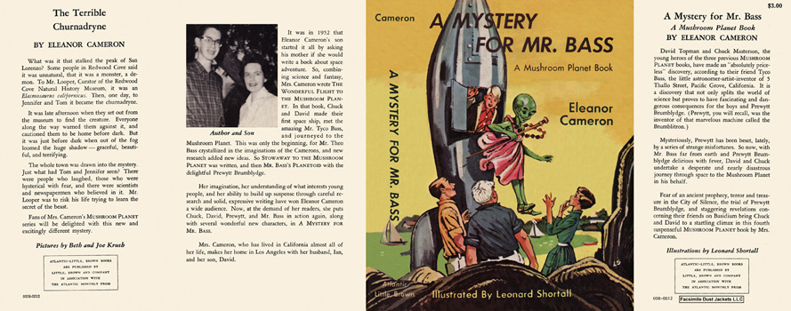 Mystery for Mr. Bass, A. Eleanor Cameron, Leonard Shortall.