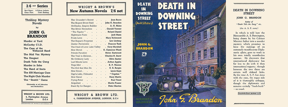Death in Downing Street. John G. Brandon