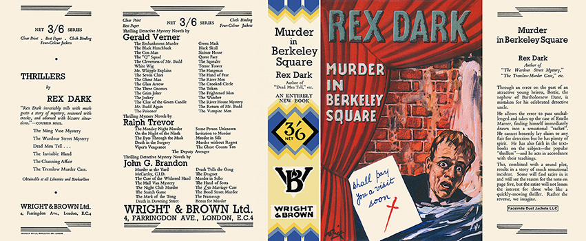 Murder in Berkeley Square. Rex Dark