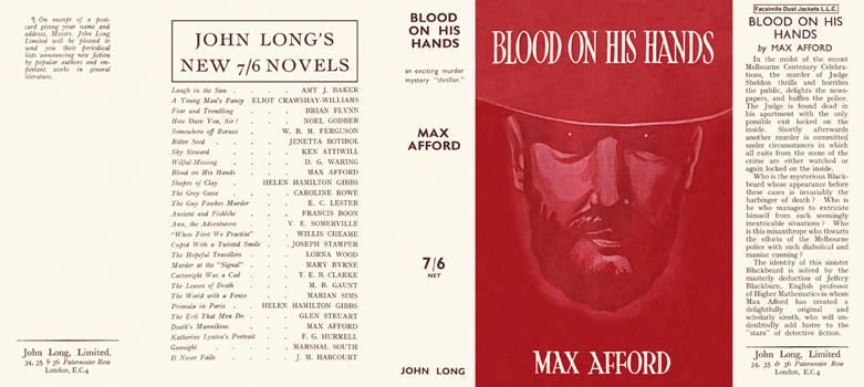 Blood on His Hands. Max Afford